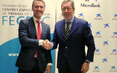 La FECETC i MicroBank firmen un conveni per potenciar el desenvolupament d'empreses socials